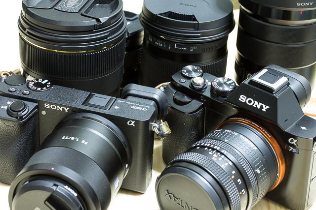 所有しているソニーEマウントカメラのα7Sとα6500