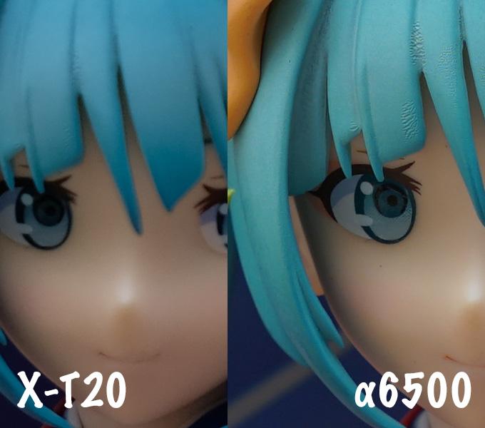 X-T20とα6500の解像感の違い