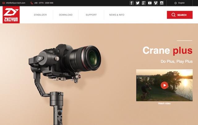 新型「Zhiyun Crane Plus」発売開始で「Zhiyun Crane V2」が4万円台に