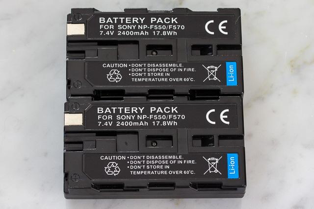 ソニーNP-F550互換バッテリー