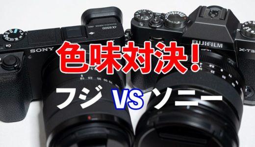 【最高 vs 最悪?】富士フイルムのカメラとソニーのカメラで色味比較