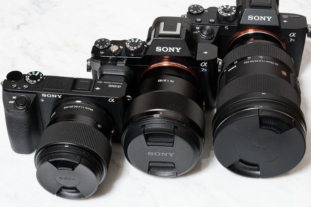 愛用のソニー製ミラーレスカメラ3機種