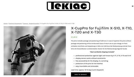 TEKIACのX-S10やX-T30のチルト液晶に干渉しないアイカップ「X-CupPro」がおすすめ!